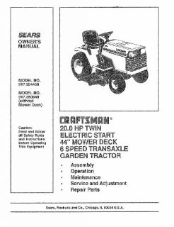 craftsman riding mower in Outdoor Power Equipment