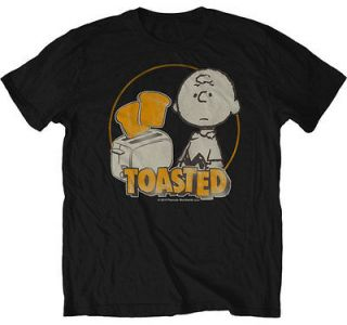 PEANUTS ADULT CHARLIE BROWN TOASTED T SHIRT SM MED LG XL 2XL