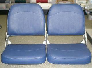 Newly listed WISE LOCK & LOUNGE BOAT SEATS, FISHING SEATS NAVY SET OF