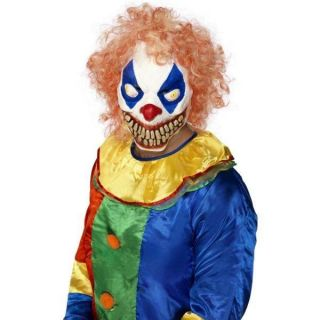adult evil clown mask halloween fancy dress costume