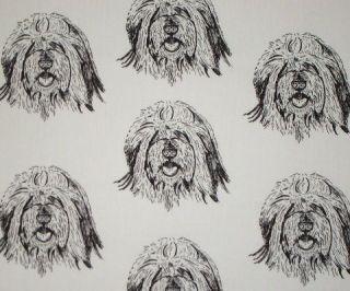polish lowland sheepdog pon craft fabric 1 yard time left