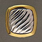 DESIGNER DAVID YURMAN 18K GOLD SPIRAL CABLE NECKLACE