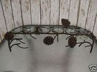 PINECONE TOWEL BAR Pine Cone Cabin Lodge Country Bathroom Decor