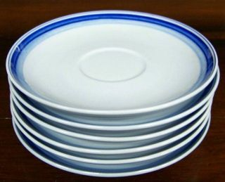 set 4 petrus regout blue colors b b plates holland