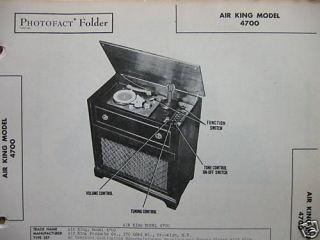 photofact manual air king 4700 39  6