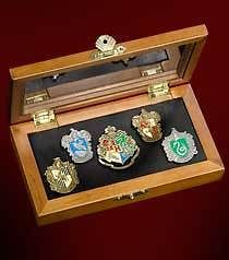 Newly listed HARRY POTTER OFFICIAL HOGWART HOUSE CREST PIN SET