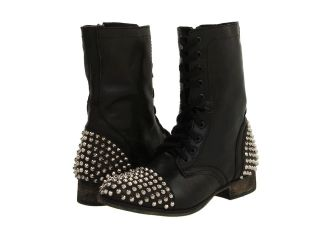 Womens Shoes STEVE MADDEN   TARNNEY   SPIKE STUDDED LACE UP BOOTS
