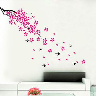 REMOVABLE Love Spring Flowers Trees Room Wall vinyl mural decor