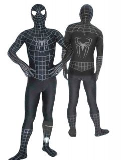 Black Suit Spiderman Hero Catsuit Costumes~Stock SizeS,M,L,XL,XXL
