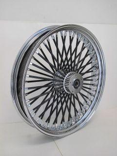 mammoth fat 52 black spoke wheel harley 21x3 5 time