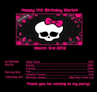 candy wrappers party favors monster high 5 time left $