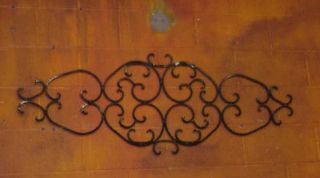 Rustic Iron Architectural Wall Art 55x20 Handmade Large Wrought