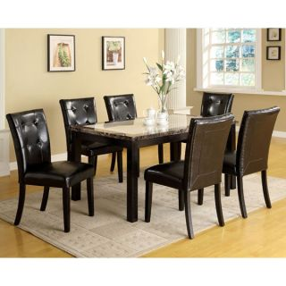 solid wood casual faux marble top dining table set more