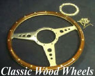 14 wood steering wheel compatible with moto lita boss classic