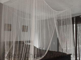 Bed Netting Mosquito Net White Four Corner Canopy Queen King Bedding