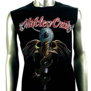Sz M Motley Crue Sleeveless T Shirt Tank Top Punk Heavy Metal Rock Men
