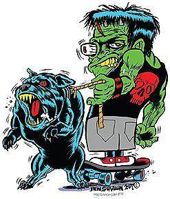 Skateboard Monster Pitbull Sticker Decal Ben Von Strawn BV28