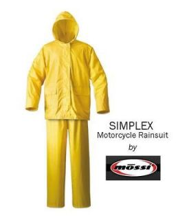 Newly listed Mossi Simplex Yellow Motorcycle Rain Suit   Size MEDIUM