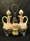 Mt Washington Pairpoint Burmese Peachblow Glass Cruet