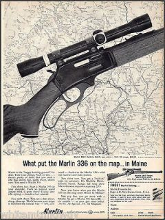 1963 MARLIN 336 C CARBINE Rifle w/Scope AD On the map in Maine