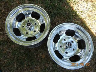 JUST POLISHED 15x7 SLOT MAG WHEELS FORD TRUCK JEEP MAGS GASSER BRONCO