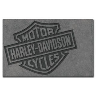 HARLEY DAVIDSON Motorcycle Bar & Shield 5 x 8 Large Area Rug   New