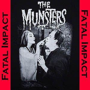 Horror Goth Rock Rebel Herman Lily Munster Mens Black T Shirt XXL 2XL