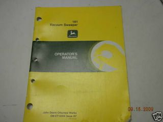 john deere operators manual 161 vacuum sweeper time left $