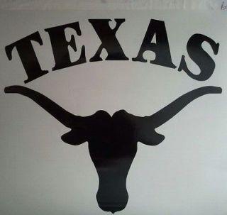 Texas Longhorns CORNHOLE DECALS   2 CORNHOLE DECALS Vinyl Vehicle