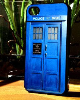 Apple iPhone 4 / 4S Dr. Who Tardis Police Call box Case or AT&T