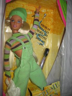 barbie extreme green teen skipper doll mattel 1997 rare time