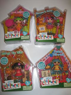 Lalaloopsy lot mini doll HARMONY MANGO TIKI WIKI FEATHER TELL TALE
