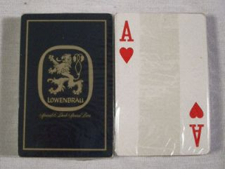vintage lowenbrau blue playing cards sealed mint time left $