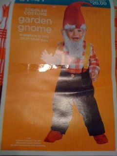 NEW ADORABLE BOY Garden Gnome Toddler Costume 2T to 3T or Elf