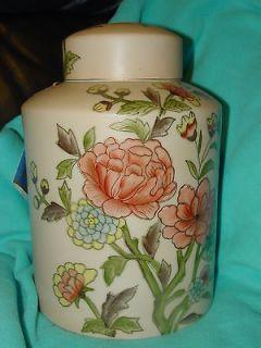 Gold IMARI Hand Painted Gulding Porcelain jar urn vase Lid 10 X 7