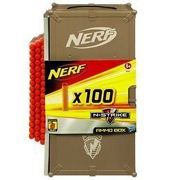 Nerf AMMO BOX & 100 Darts N STRIKE Holds Over 300 CLIP SYSTEM DARTS