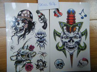 biker skull cross bone dagger gun more options design time left
