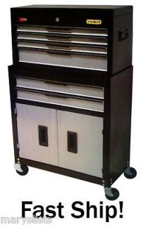 new stanley 6 drawer rolling tool chest cabinet combo new