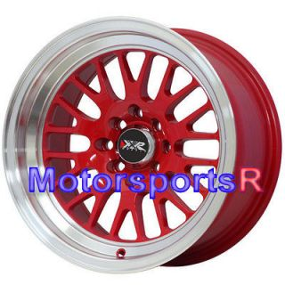 531 RED Rims Wheels Deep Dish Lip Stance 4x100 90 00 05 Mazda Miata