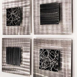 Modern Abstract Black Metal Wall Art Sculpture Decor Freestyle Jon