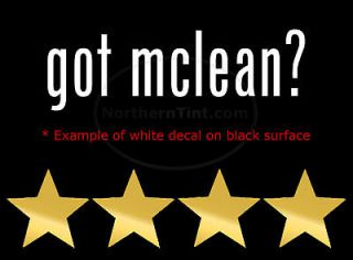 got mclean funny wall art truck car decal sticker more