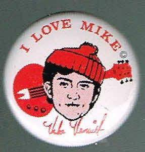 mike nesmith monkees pin pinback button d28 time