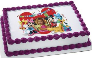 disney mickey mouse friends edible personalized cake topper image time