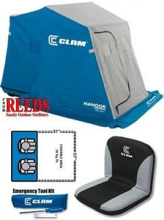 Clam Nanook FULL THERMAL 2 man Ice Fishing Shelter House   9026