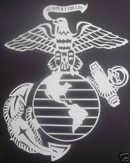 12 x15 eagle globe anchor decal sticker marine usmc time