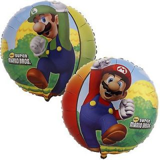 BALLOONS SUPER MARIO BROTHERS free ship PARTY favors LUIGI