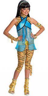 Official Monster High Cleo De Nile Wig Halloween Costume Headband Gold