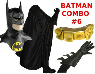BATMAN 1989 1992 Michael Keaton costume mask, cape, gloves, yellow