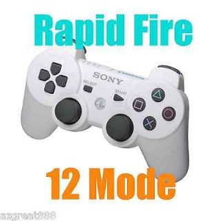 Fire DualShock Modded Wireless Limited White Controller 12 Modes New
