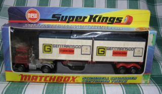 Super Kings Matchbox K 17 Scammell Crusader Container Truck 1973 in